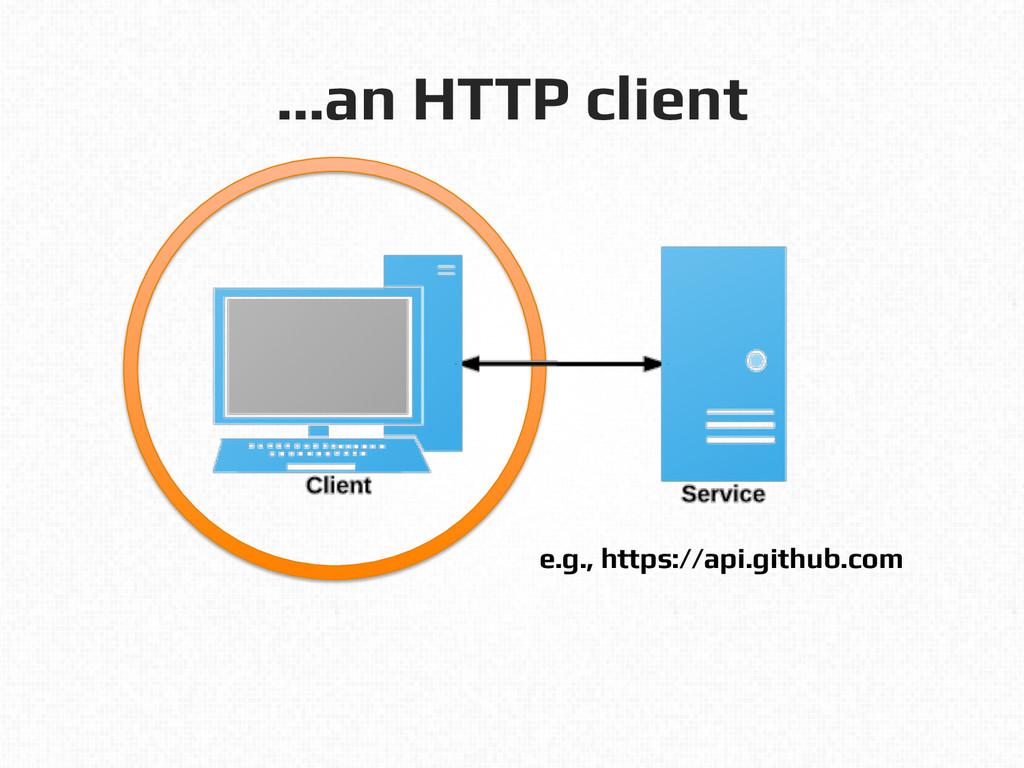 …an HTTP client! e.g., https://api.github.com!