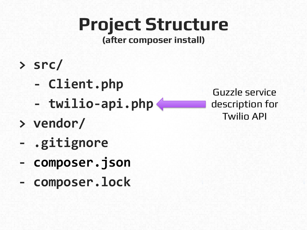Project Structure! (after composer install)! >...
