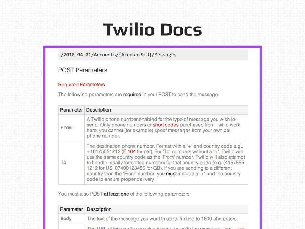 Twilio Docs!