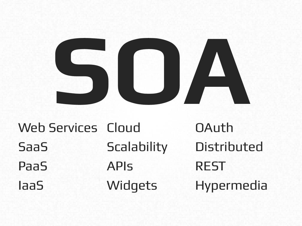 SOA! Web Services! SaaS! PaaS! IaaS! Cloud! Sca...