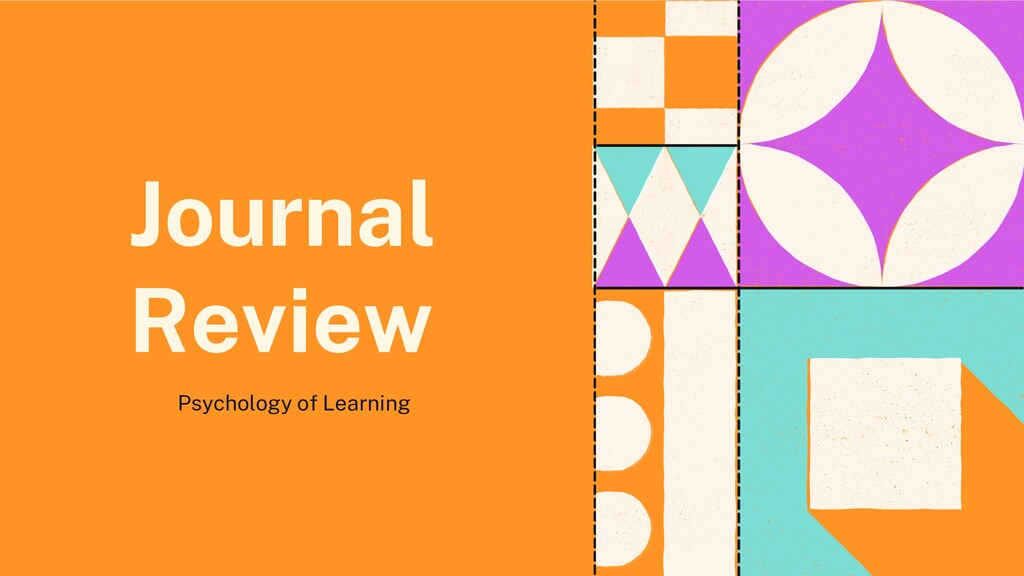 Journal Review Psychology of Learning