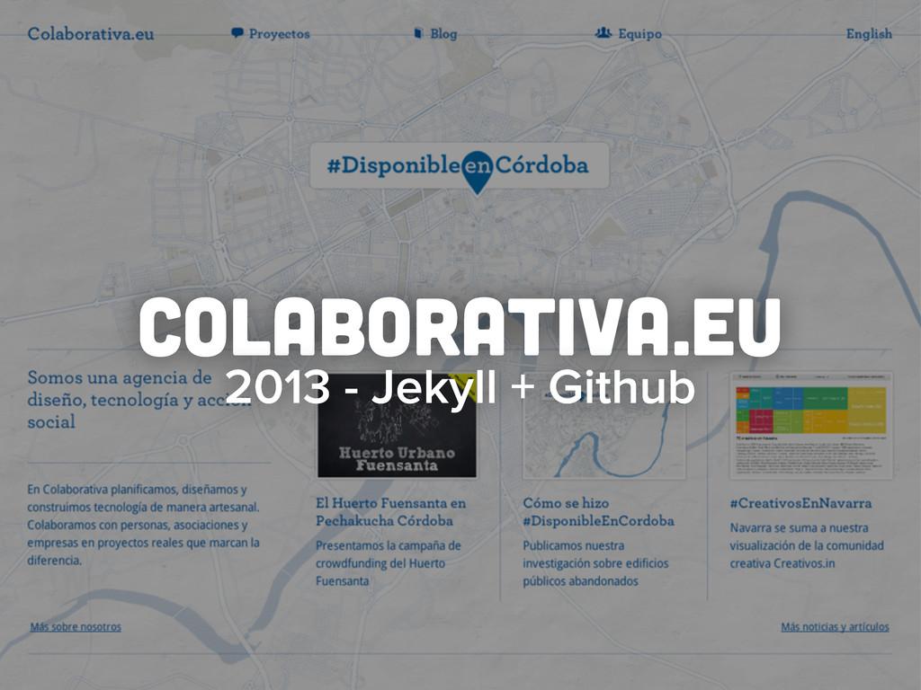 colaborativa.eu 2013 - Jekyll + Github