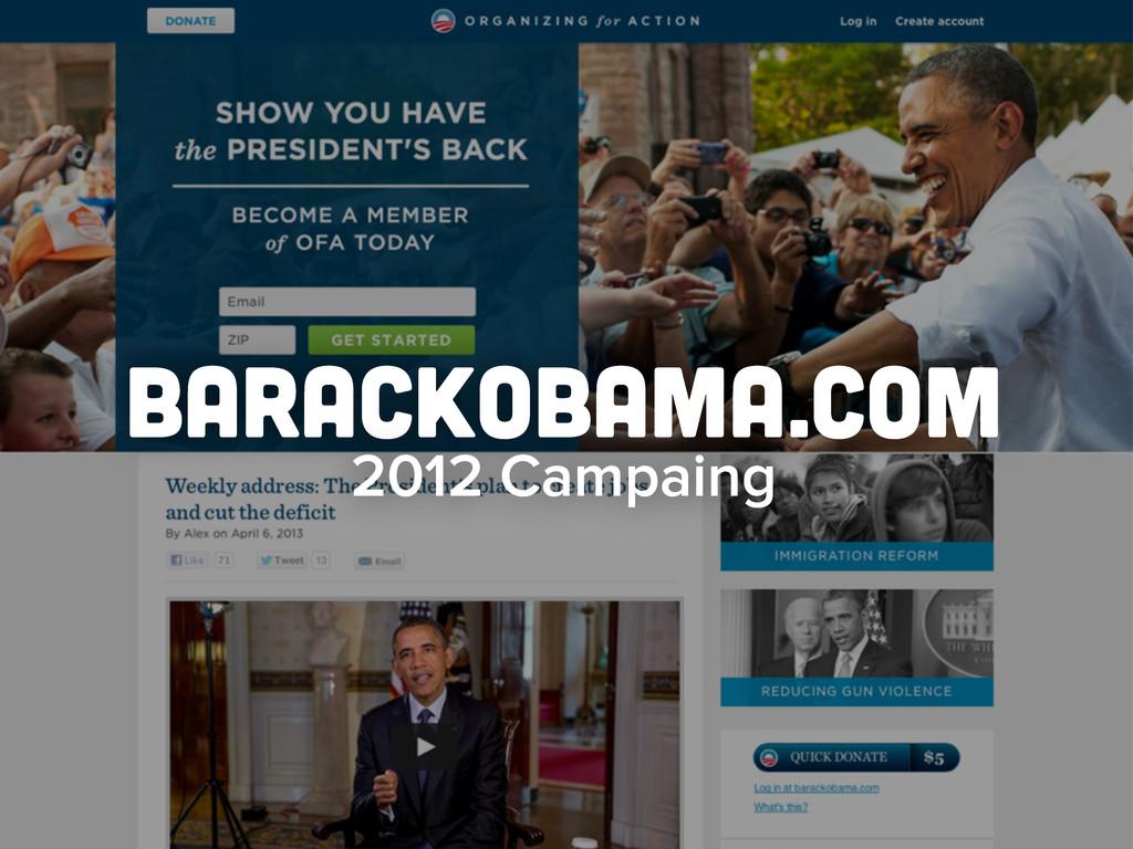 barackobama.com 2012 Campaing