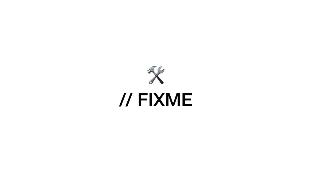 // FIXME