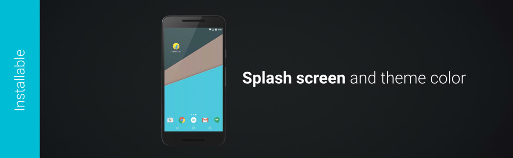 Splash screen and theme color Installable