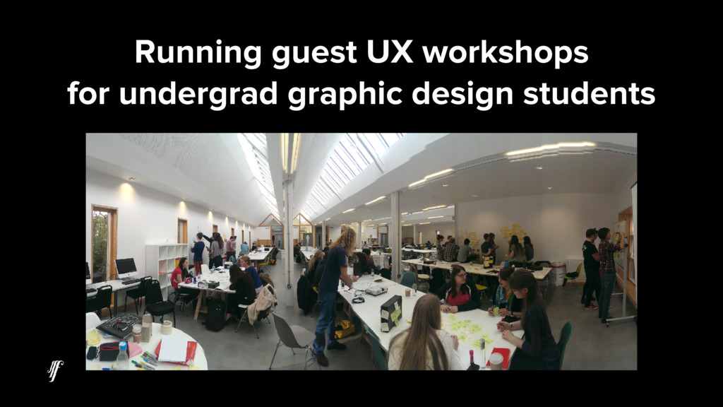Running guest UX workshops for undergrad graphi...