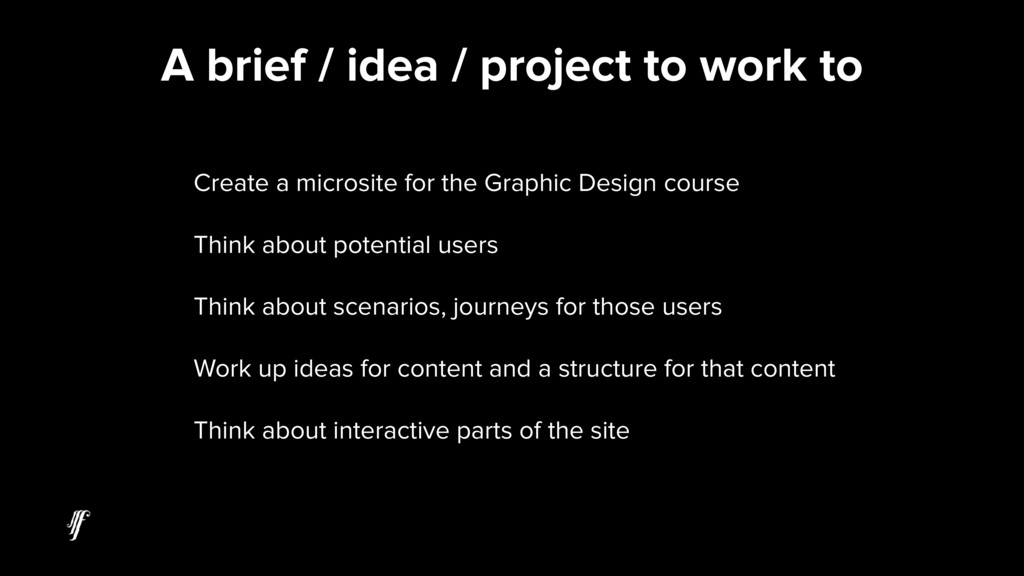 Create a microsite for the Graphic Design cours...