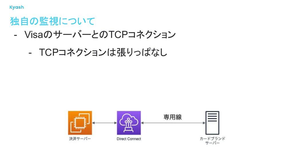 独自の監視について - VisaのサーバーとのTCPコネクション - TCPコネクションは張り...