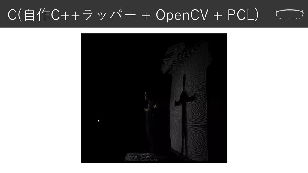 C(自作C++ラッパー + OpenCV + PCL)