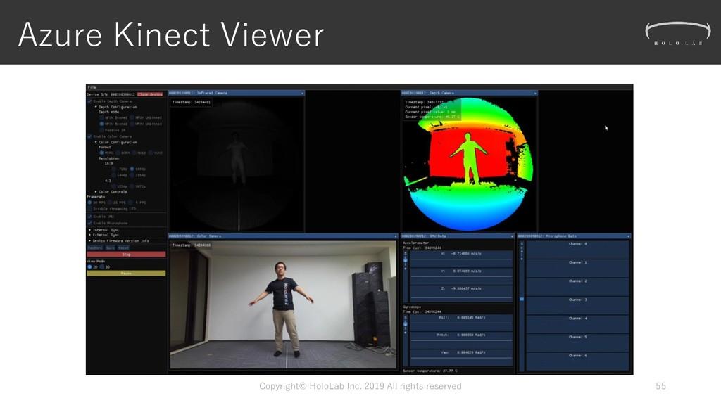 Azure Kinect Viewer Copyright© HoloLab Inc. 201...