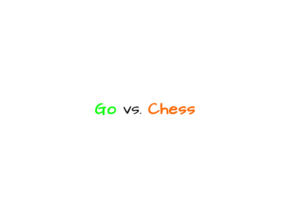 Go vs. Chess