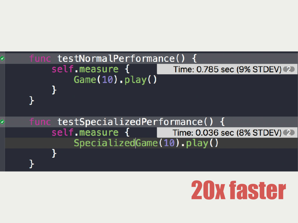 20x faster