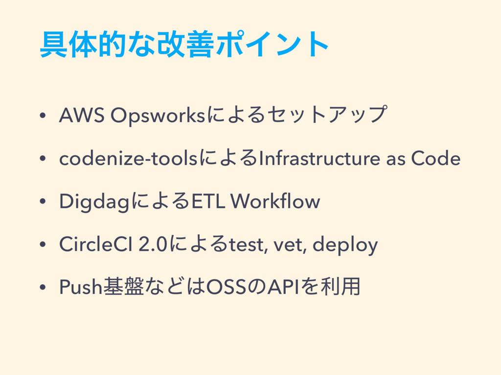 ۩ମతͳվળϙΠϯτ • AWS OpsworksʹΑΔηοτΞοϓ • codenize-t...
