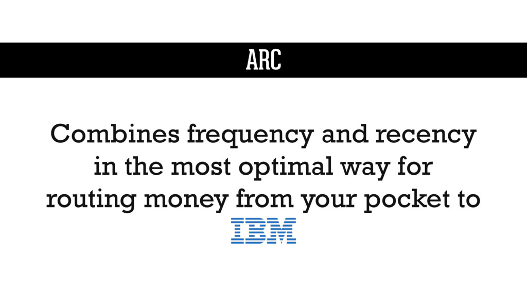 ARC Combines frequency and recency in the most ...
