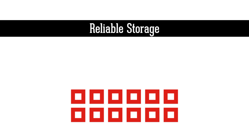 Reliable Storage