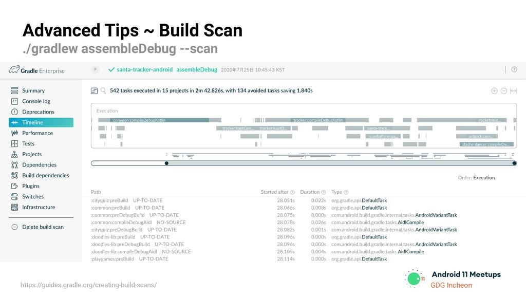 GDG Incheon Advanced Tips ~ Build Scan ./gradle...