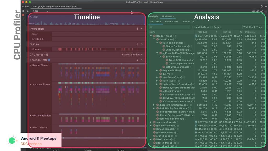 GDG Incheon CPU Profiler GDG Incheon Timeline A...