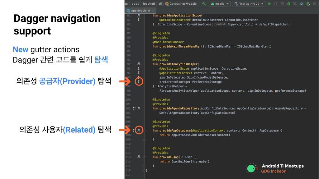 GDG Location Dagger navigation support GDG Inch...