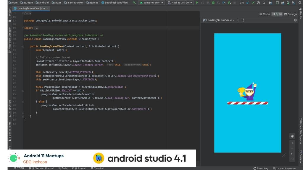 Custom View (code) GDG Incheon android studio 4...