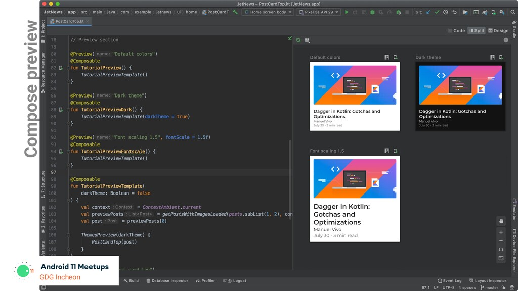 GDG Incheon Compose preview GDG Incheon