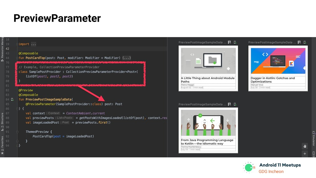 GDG Incheon PreviewParameter