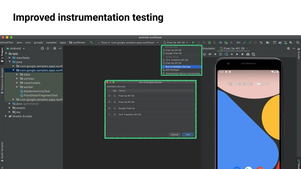GDG Incheon Improved instrumentation testing