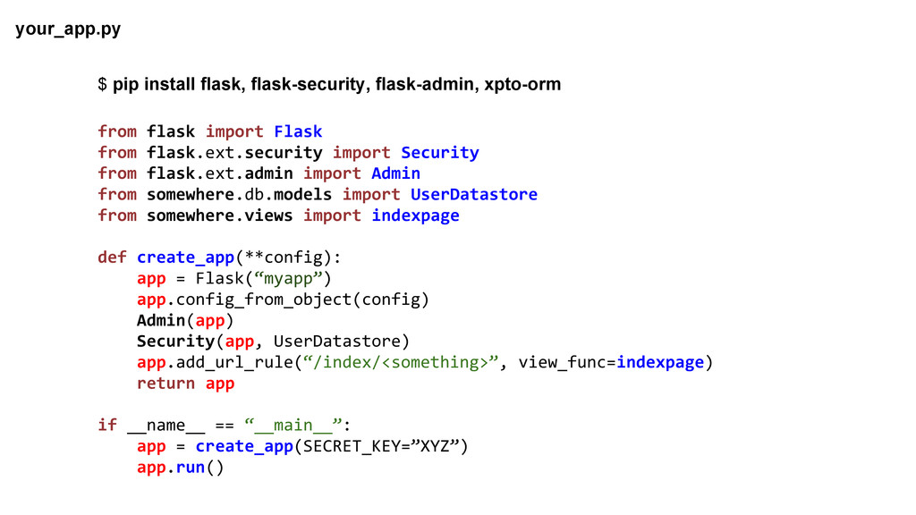 from flask import Flask from flask.ext.security...