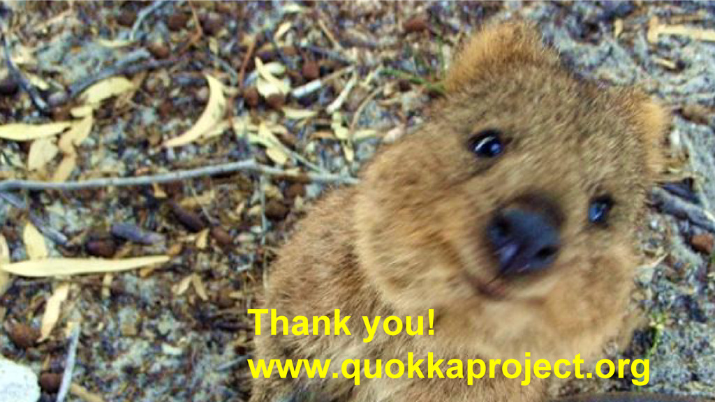 Thank you! www.quokkaproject.org