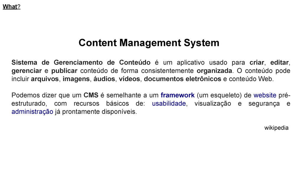 Content Management System Sistema de Gerenciame...