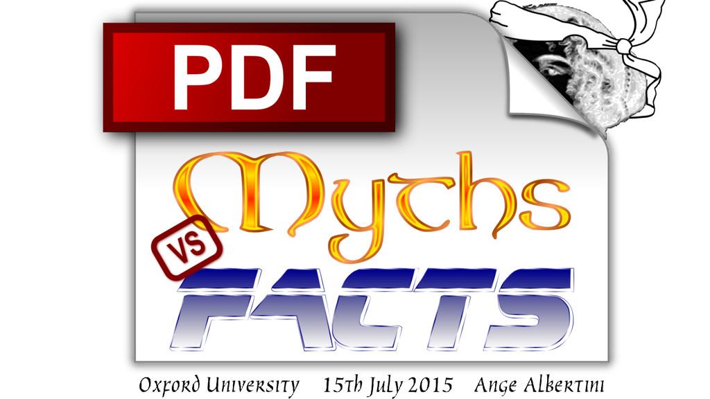 PDF: Myths vs Facts a Digital Preservation Coal...