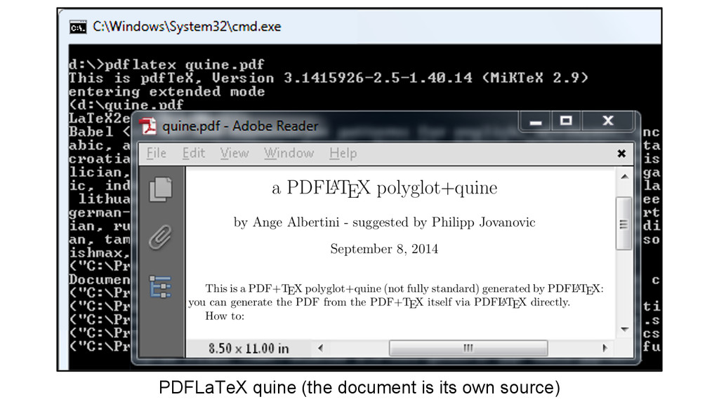 PDFLaTeX quine (the document is its own source)