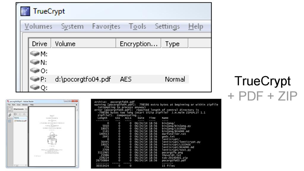 TrueCrypt + PDF + ZIP