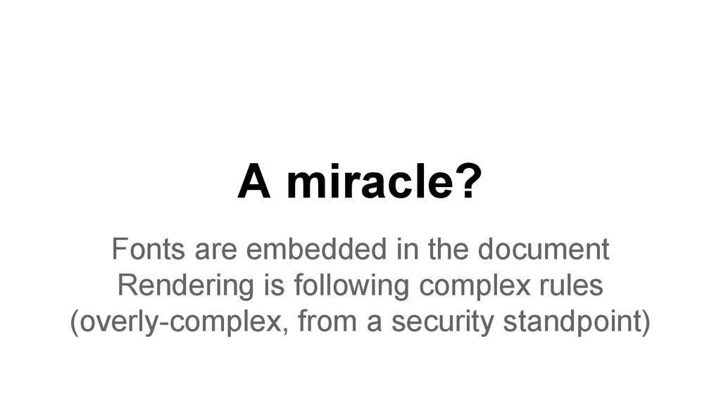 A miracle? Fonts are embedded in the document R...