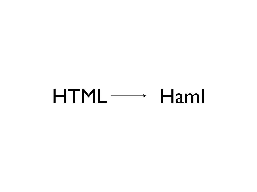 HTML Haml