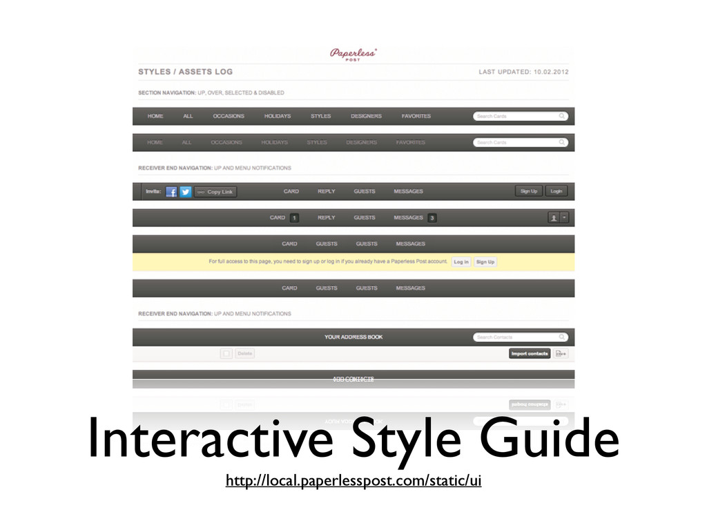 Interactive Style Guide http://local.paperless...