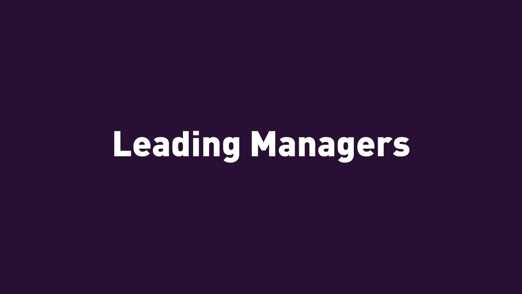 Leading Managers