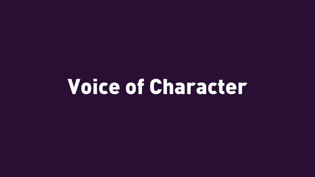 Voice of Character