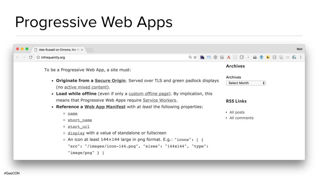 #GeeCON Progressive Web Apps