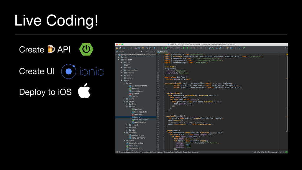 Live Coding! Create  API  Create UI  Deploy to ...