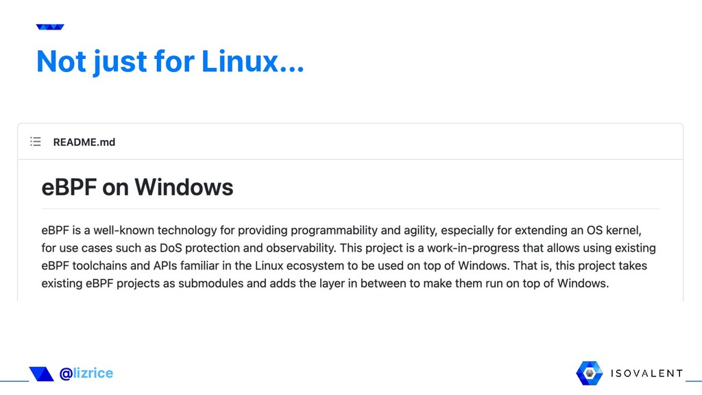 @lizrice Not just for Linux... Not just for Lin...