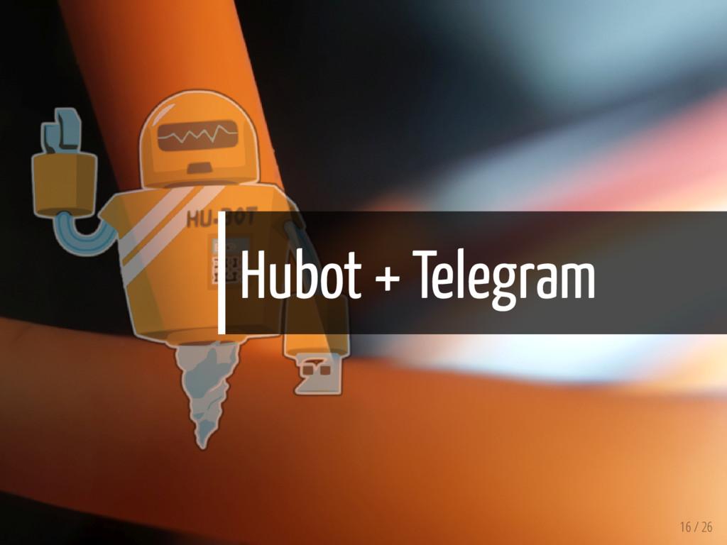 Hubot + Telegram 16 / 26