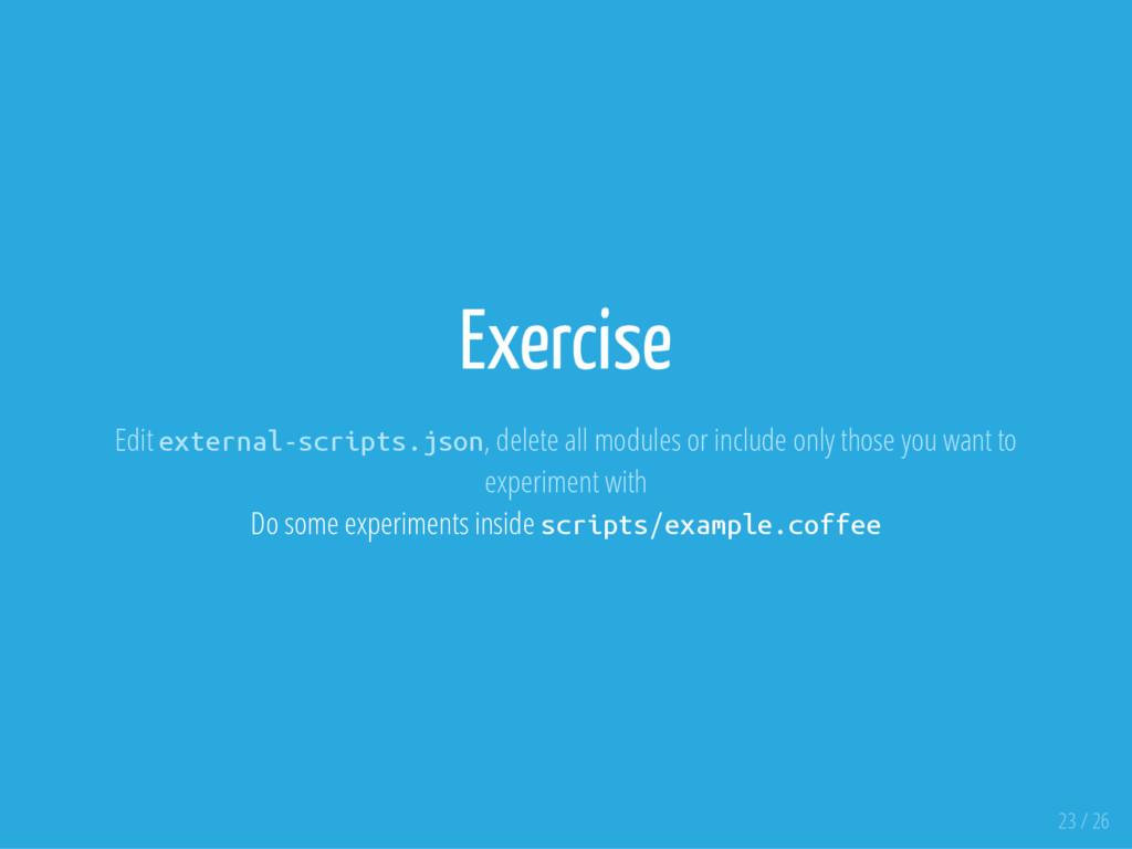 Exercise Edit e x t e r n a l - s c r i p t s ....