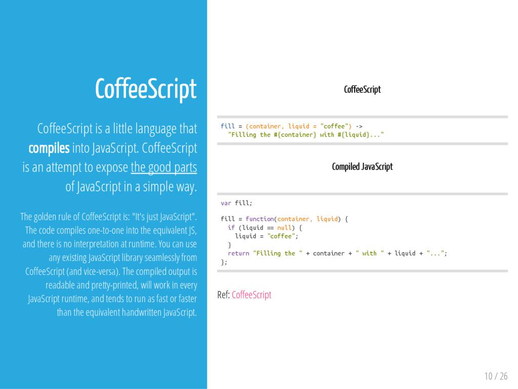 CoffeeScript f i l l = ( c o n t a i n e r , l ...