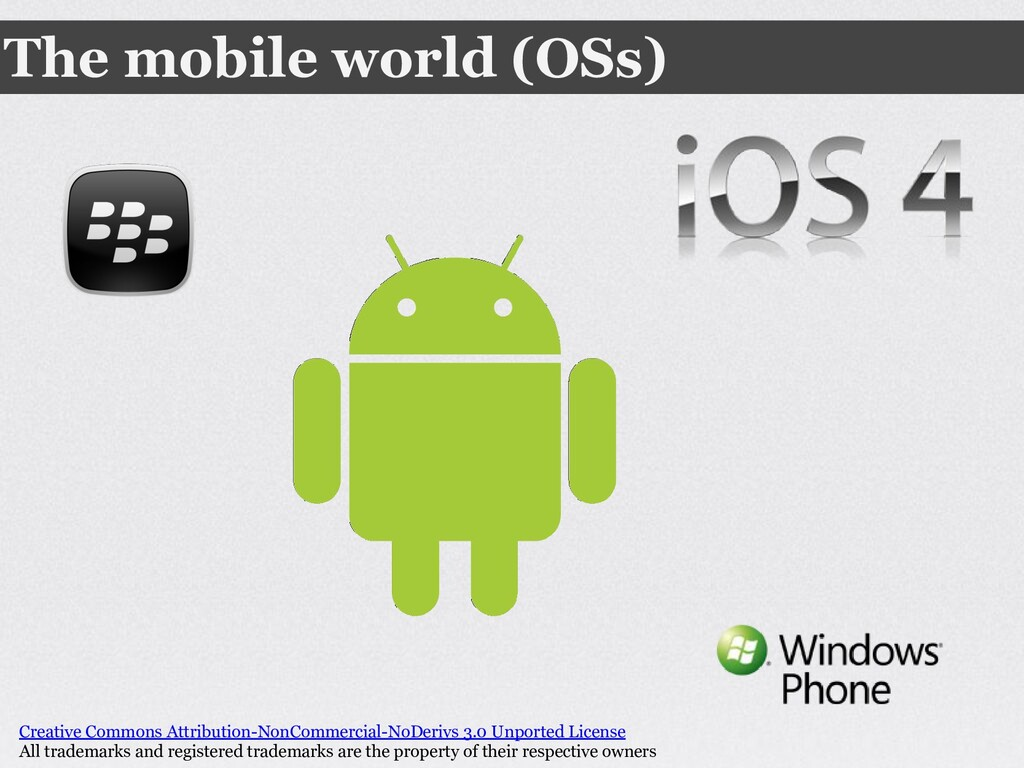 The mobile world (OSs) Creative Commons Attribu...