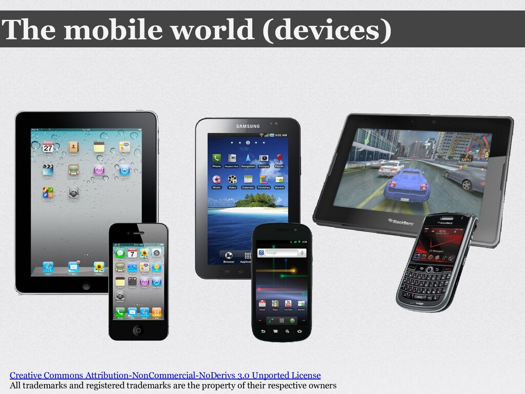 The mobile world (devices) Creative Commons Att...