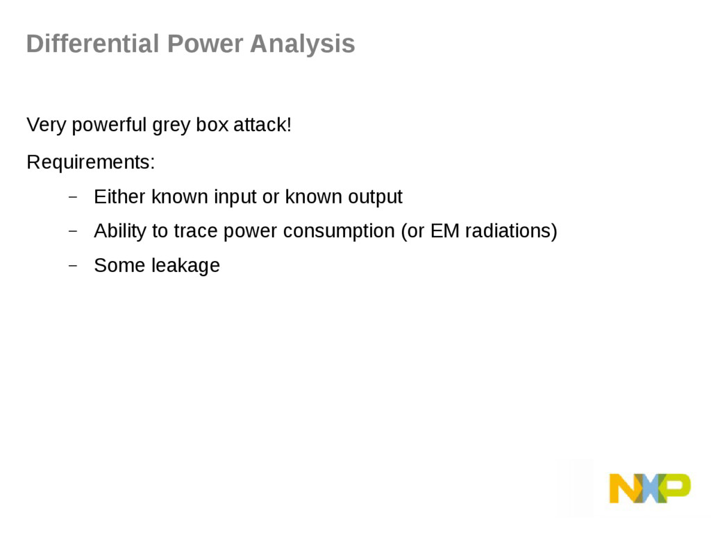Very powerful grey box attack! Requirements: – ...