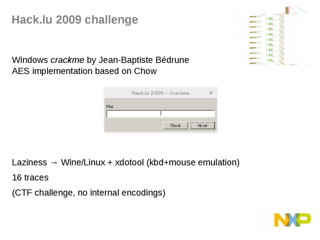 Hack.lu 2009 challenge Windows crackme by Jean-...