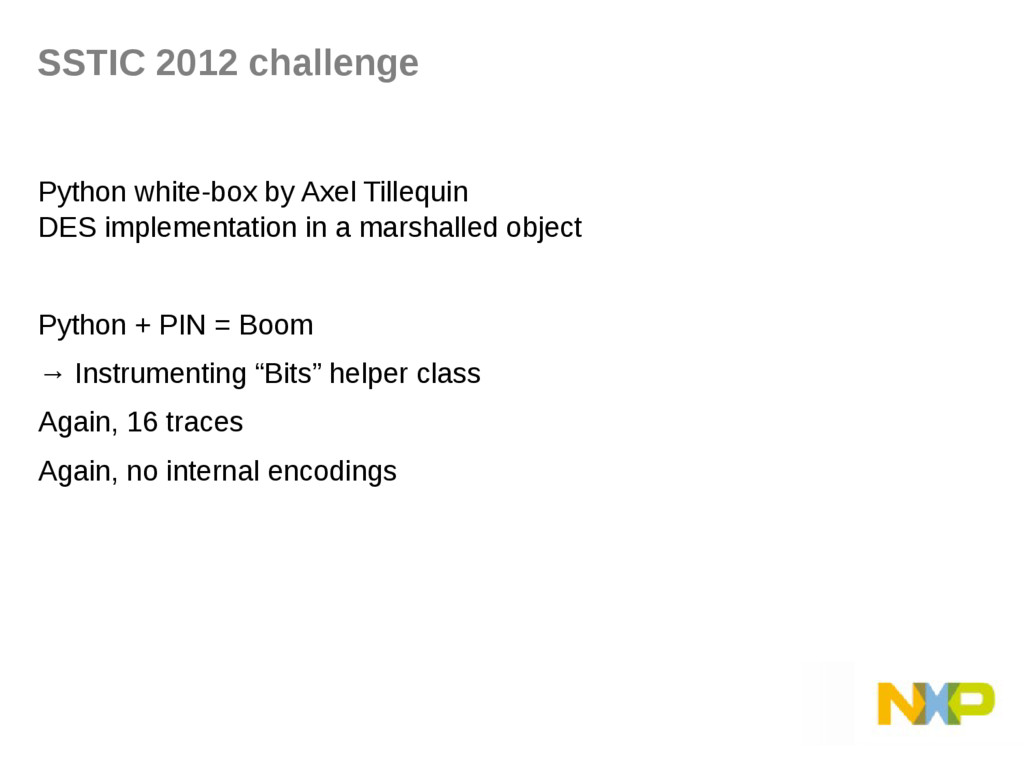 SSTIC 2012 challenge Python white-box by Axel T...