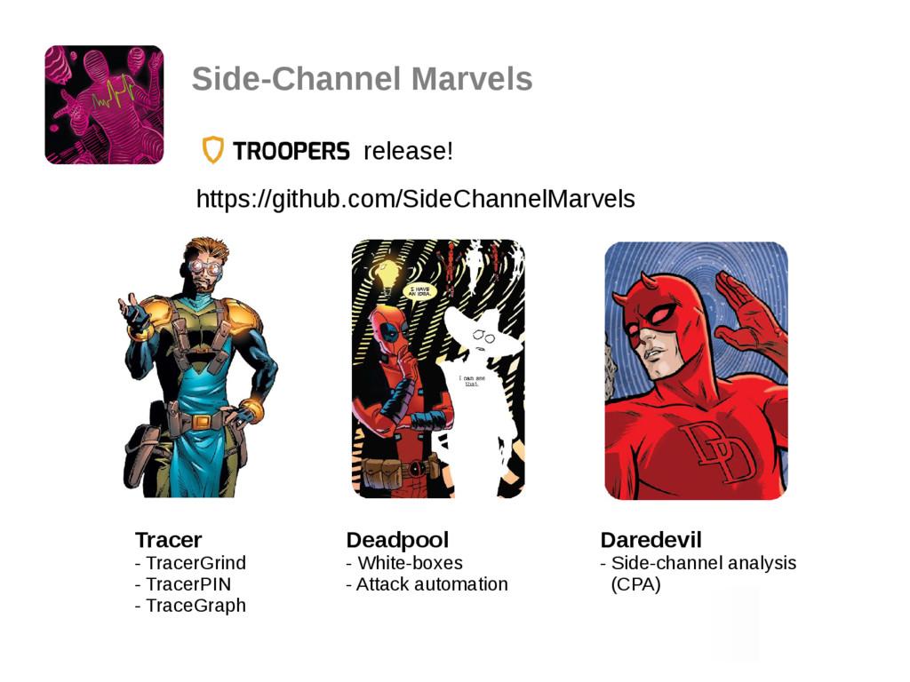 Side-Channel Marvels release! https://github.co...