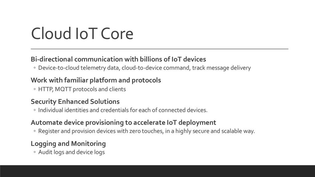 Cloud IoTCore Bi-directional communication with...